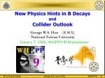 New Physics Hints in B Decays and Collider Outlook