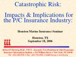 Catastrophic Risk: Impacts & Implications for the P/C Insurance Industry: