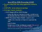 Java API for XML Processing (JAXP)