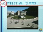 WELCOME to WWU
