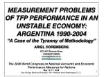 MEASUREMENT PROBLEMS OF TFP PERFORMANCE IN AN UNSTABLE ECONOMY:  ARGENTINA 1990-2004
