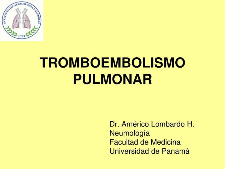 tromboembolismo pulmonar n.
