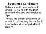 Boosting a Car Battery