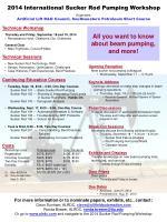 2014 International Sucker Rod Pumping Workshop Organizers: