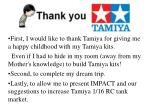 First, I would like to thank Tamiya for giving me a happy childhood with my Tamiya kits.