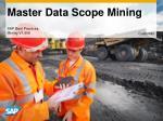 Master Data Scope Mining