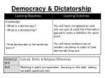 Democracy & Dictatorship