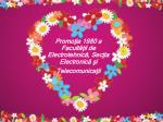 Promoţia 1980 a Facultăţii de Electrotehnic ă, Secţia Electronică şi Telecomunicaţii