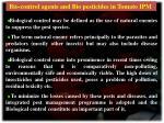 Bio-control agents and Bio pesticides in Tomato IPM