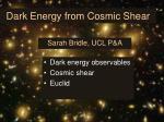 Dark Energy from Cosmic Shear