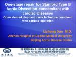 Lizhong Sun  M.D. Anzhen Hospital of Capital Medical University Beijing Aortic Disease Centre
