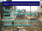 Japan's Disaster Relief Operations