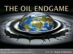 The  oil endgame