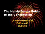 The Handy Dandy Guide to the Constitution