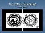 The Rotary Foundation 2013 CLTS