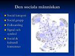 Den sociala människan