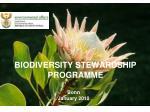 BIODIVERSITY STEWARDSHIP PROGRAMME