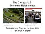 The Canada-U.S Economic Relationship