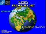 NATO's  PRIORITIES 2007