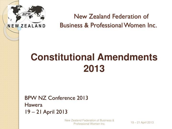 new zealand federation of business professional women inc n.