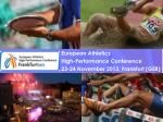 European Athletics High-Performance Conference