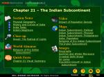 Chapter 21 – The Indian Subcontinent