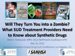 Will They Turn You into a Zombie? What SUD Treatment Providers Need to Know about Synthetic Drugs