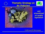 Thematic Strategy on Air Pollution