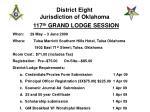District Eight  Jurisdiction of Oklahoma