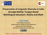ANIK NANDI  PhD Candidate (Linguistics) Research fellow in  Instituto da Lingua Galega  (ILG)