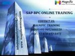 sap bpc online training USA,UK and Canada
