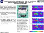 Advances in Multi-scale Modeling of Global Water and Energy Cycles