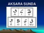 AKSARA SUNDA