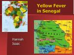 Yellow Fever in Senegal