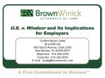 U.S. v. Windsor and its Implications for Employers