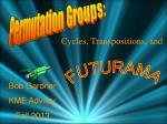 Permutation Groups: