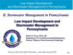 Low Impact Development and Stormwater Management in Pennsylvania