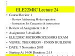ELE22MIC Lecture 24