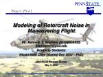 Modeling of Rotorcraft Noise in Maneuvering Flight