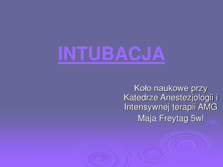 intubacja n.