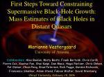Marianne Vestergaard University of Arizona