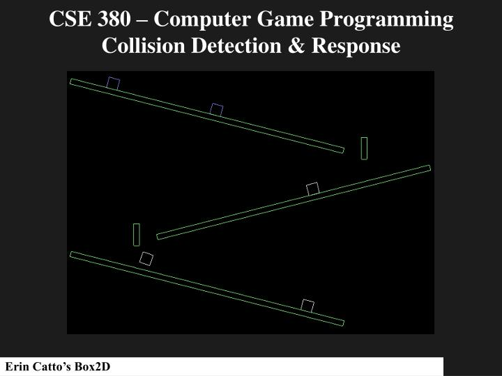 PPT - CSE 380 – Computer Game Programming Collision Detection