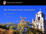 The Vietnam Center and Archive