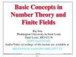 Basic Concepts in Number Theory and Finite Fields