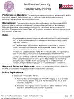 Northwestern University Post Approval Monitoring