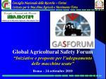 Consiglio Nazionale delle Ricerche – Torino Istituto per le Macchine Agricole e Movimento Terra