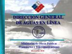 Ministerios de Obras Públicas Transportes y Telecomunicaciones