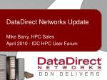 DataDirect Networks Update