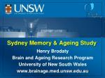 Sydney Memory & Ageing Study