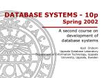 DATABASE SYSTEMS - 10p Spring 2002